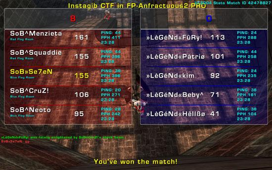 Match »LèGéNd« vs SoB  Tuesday 27 January  2009  21:00 hours CET (iCTF Ladder 5 vs 5) SoBvsLegendAnfrac2701